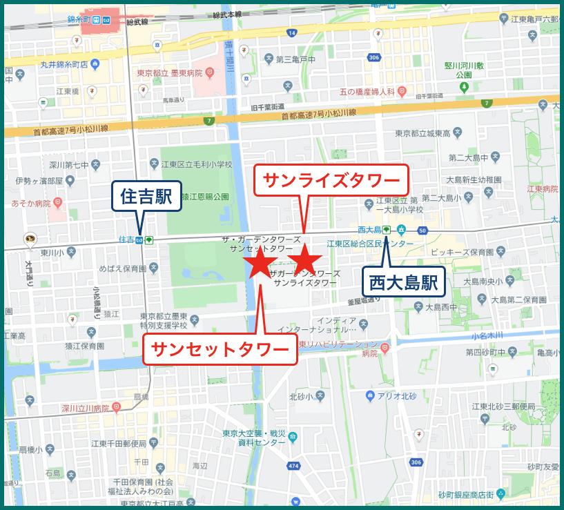 ザ・ガーデンタワーズの地図