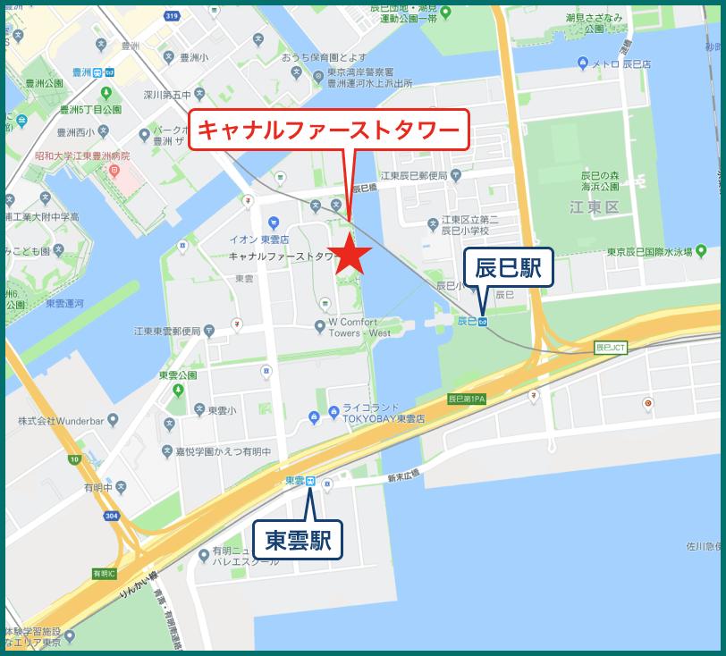キャナルファーストタワーの地図