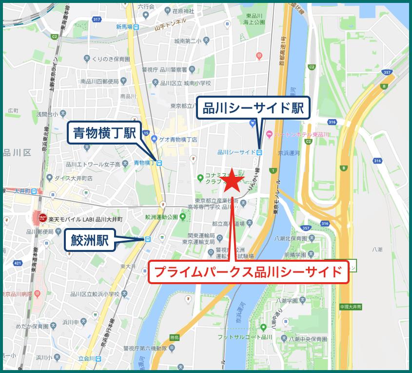 プライムパークス品川シーサイド ザ・タワーの地図