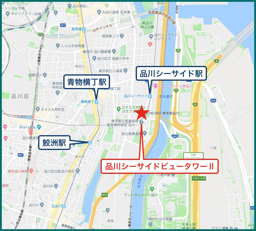 品川シーサイドビュータワーⅡの地図