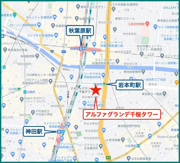 アルファグランデ千桜タワーの地図