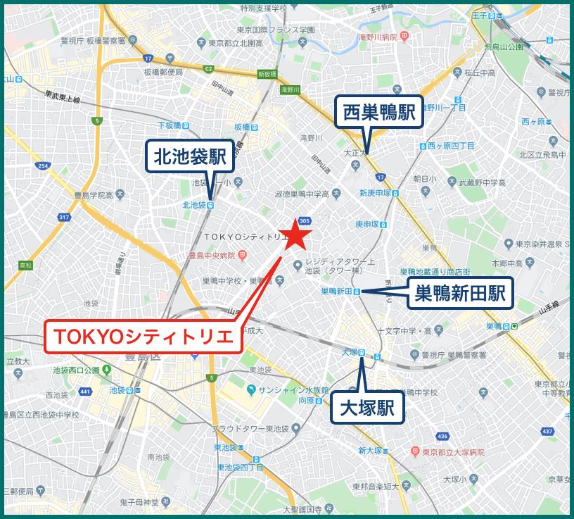 TOKYOシティトリエの地図