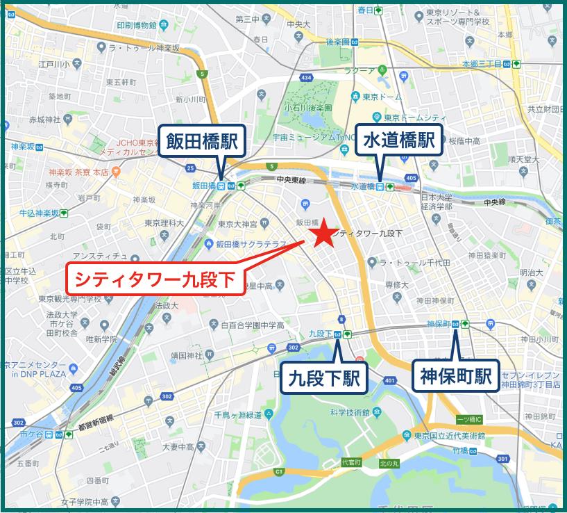 シティタワー九段下の地図