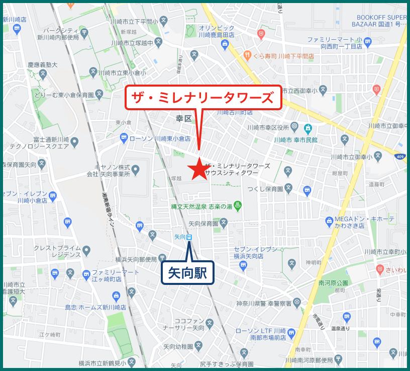 ザ・ミレナリータワーズの地図