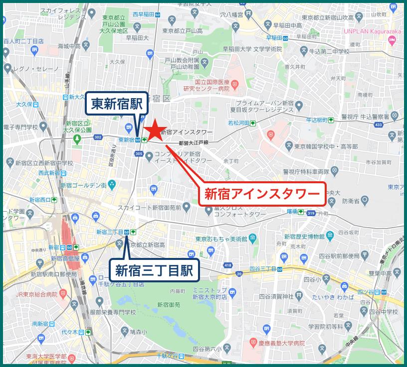 新宿アインスタワーの地図
