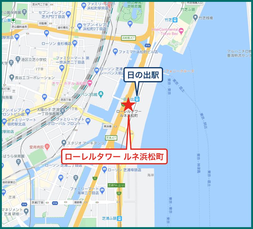ローレルタワー ルネ浜松町の地図
