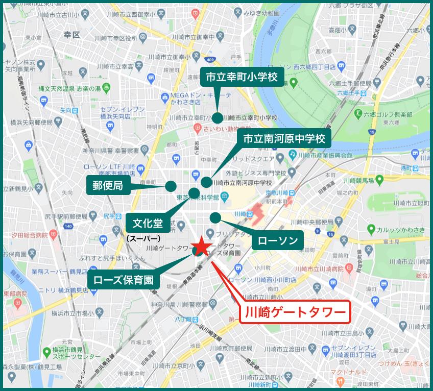 川崎ゲートタワーの周辺施設