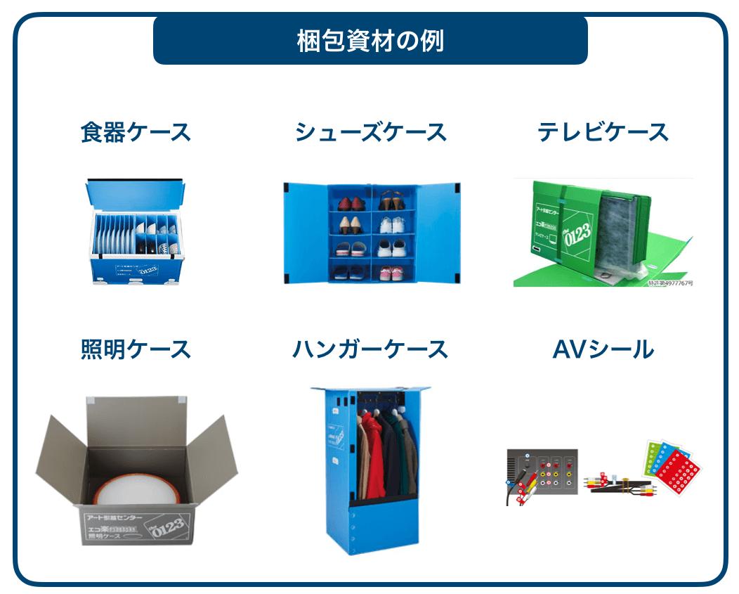 梱包資材の例