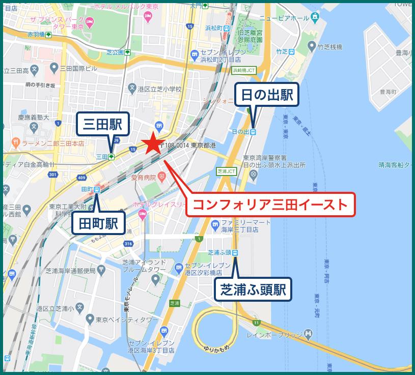 コンフォリア三田イーストの地図