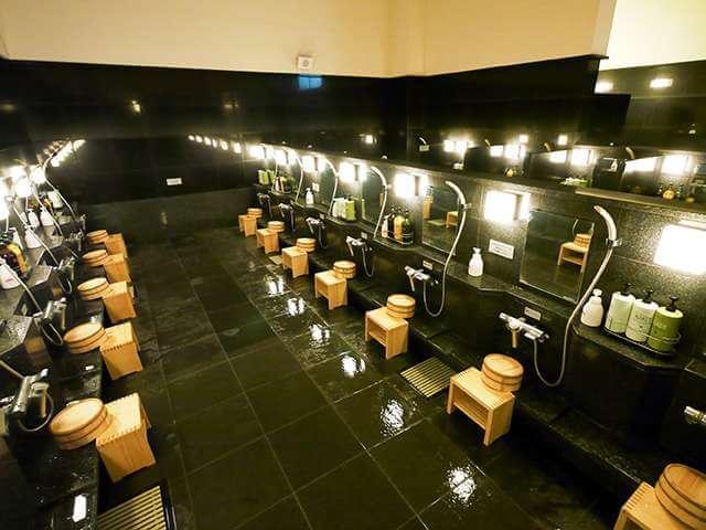 東京染井温泉Sakuraの洗い場