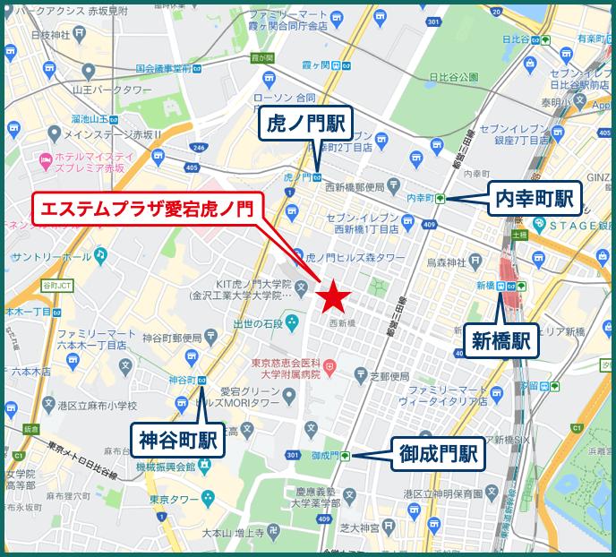 エステムプラザ愛宕虎ノ門レジデンスの地図