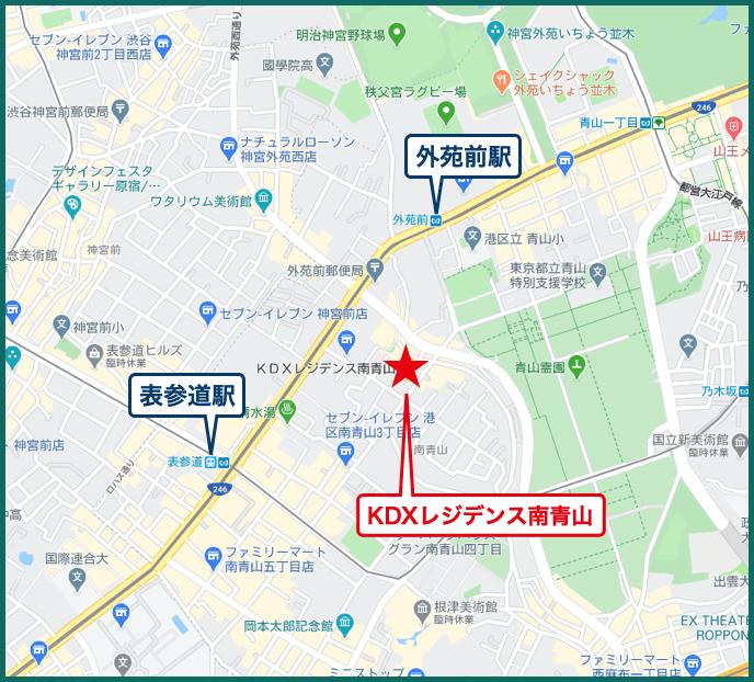 のKDXレジデンス南青山の地図