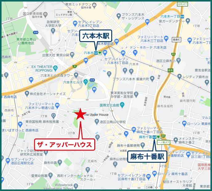 ザ・アッパーハウスの地図
