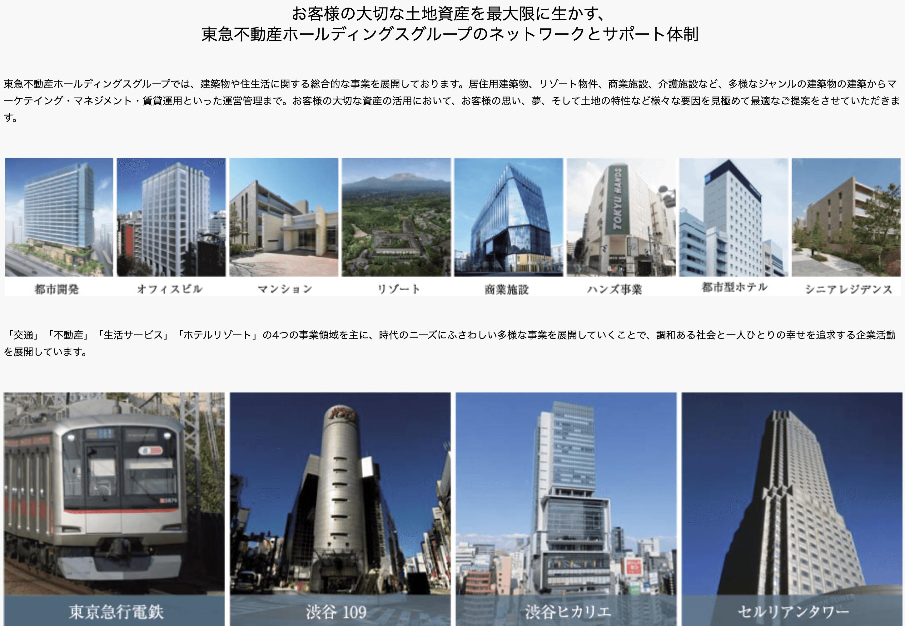 東急グループの事業