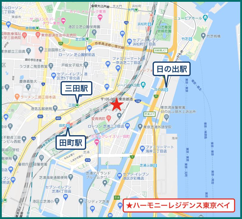 ハーモニーレジデンス東京ベイの地図