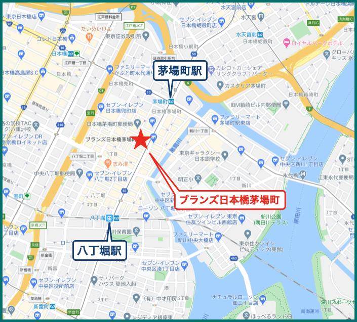ブランズ日本橋茅場町の地図