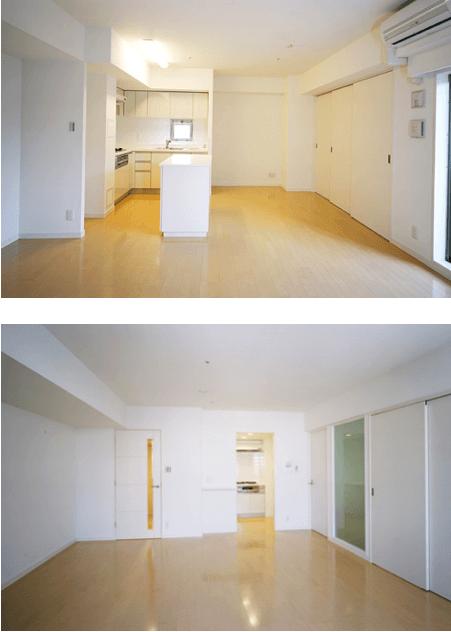 レジディア築地の室内