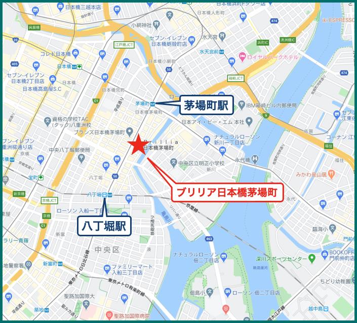 ブリリア日本橋茅場町の地図