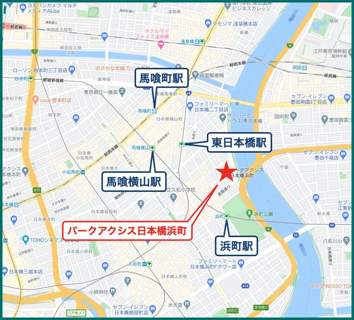 パークアクシス日本橋浜町の地図