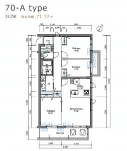 ロイヤルパークス北新宿の間取り(3LDK)
