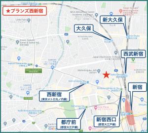 ブランズ西新宿の立地