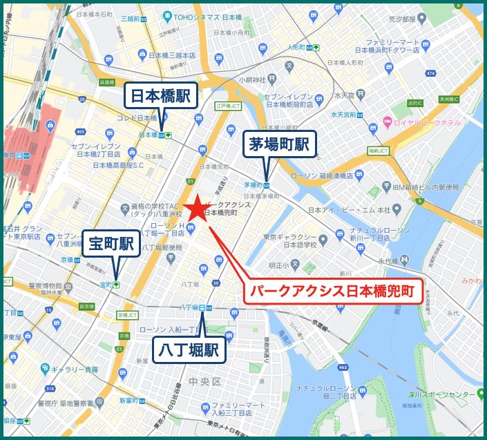 パークアクシス日本橋兜町の地図