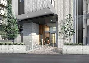 リーブルグラント西新宿イーストのエントランス