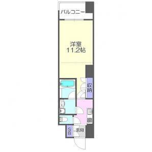 アピス西新宿三丁目の間取り(1K)