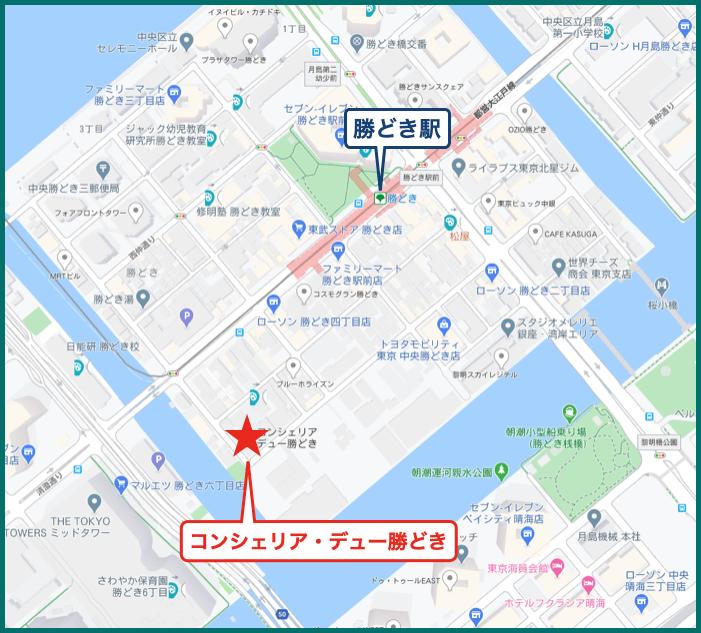 コンシェリア・デュー勝どきの地図