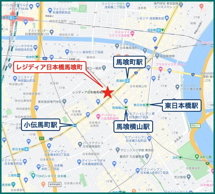 レジディア日本橋馬喰町の地図