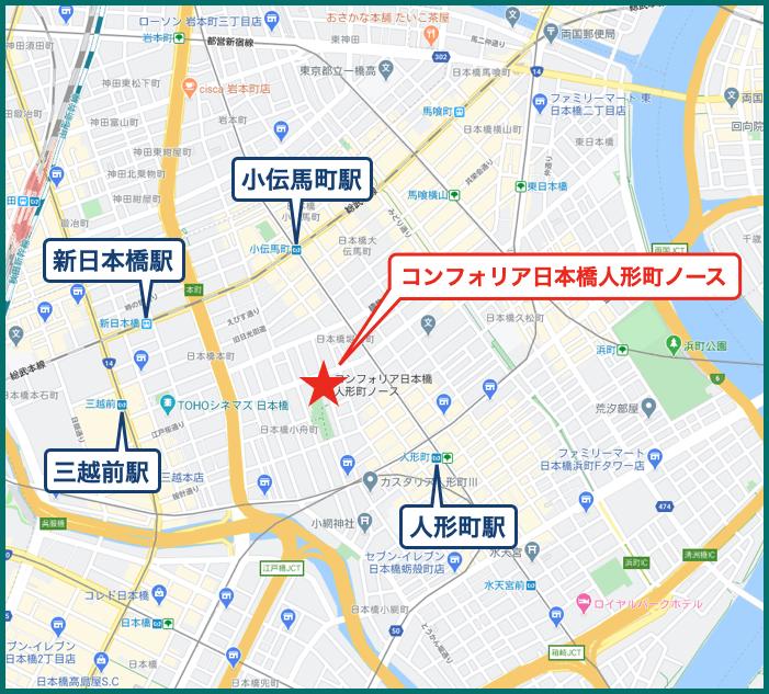 コンフォリア日本橋人形町ノースの地図
