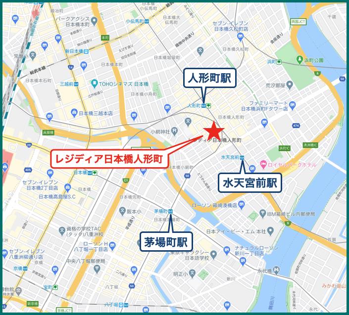 レジディア日本橋人形町の地図