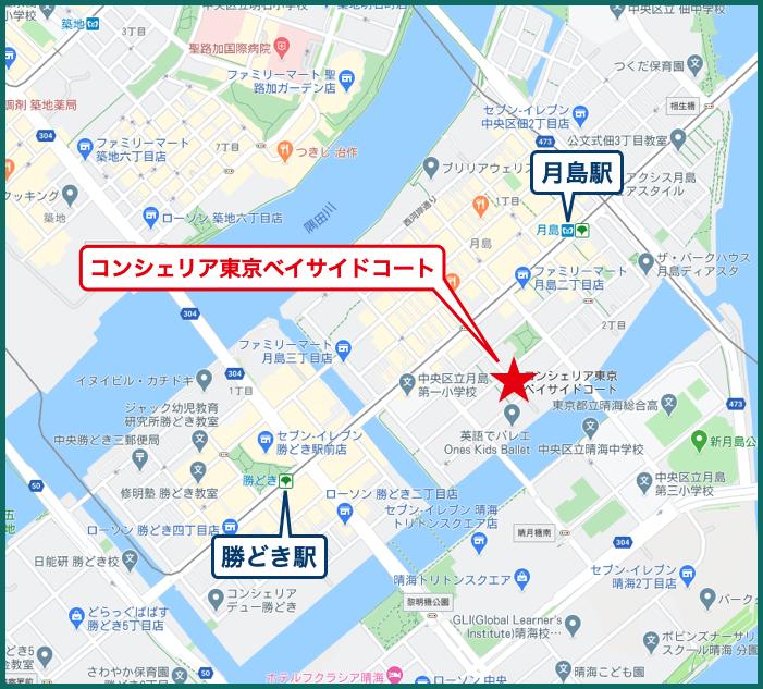コンシェリア東京ベイサイドコートの地図