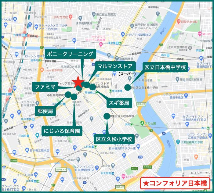コンフォリア日本橋の周辺施設