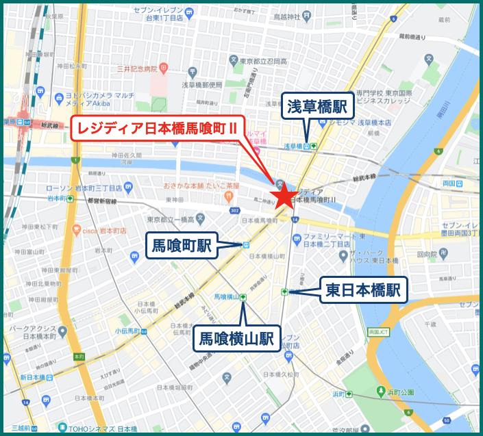 レジディア日本橋馬喰町Ⅱの地図
