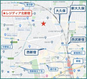 レジディア北新宿の立地