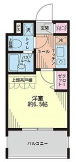エステムプラザ日本橋1Kの間取り