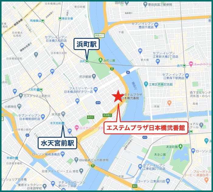 エステムプラザ日本橋弐番館の地図