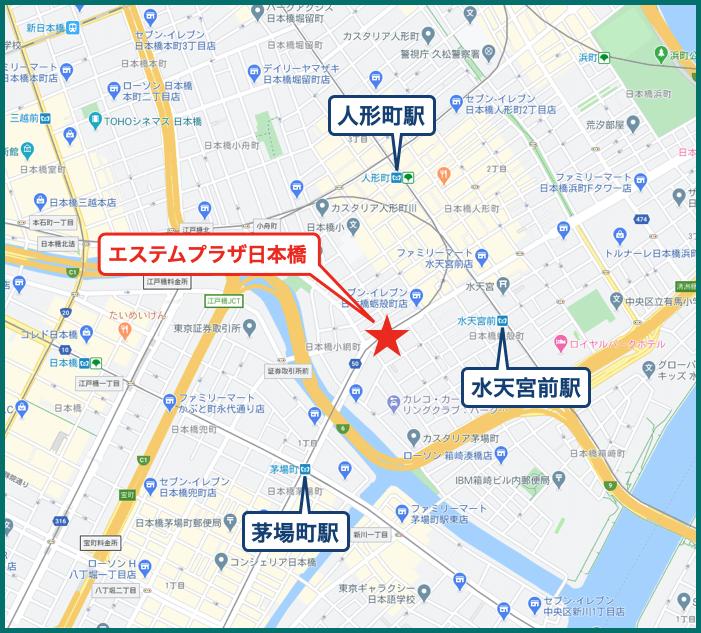 エステムプラザ日本橋の地図