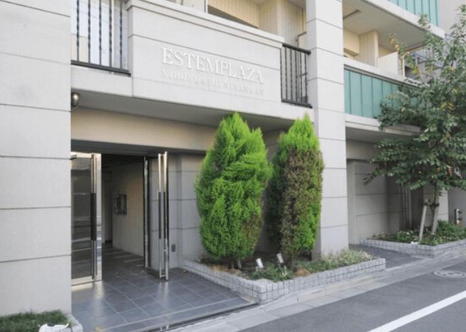 エステムプラザ日本橋弐番館のエントランス