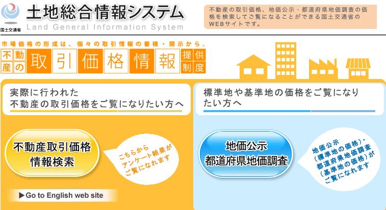 土地総合情報システムHP画像