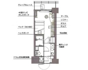 レックスガーデン神楽坂北町の間取り(1K)