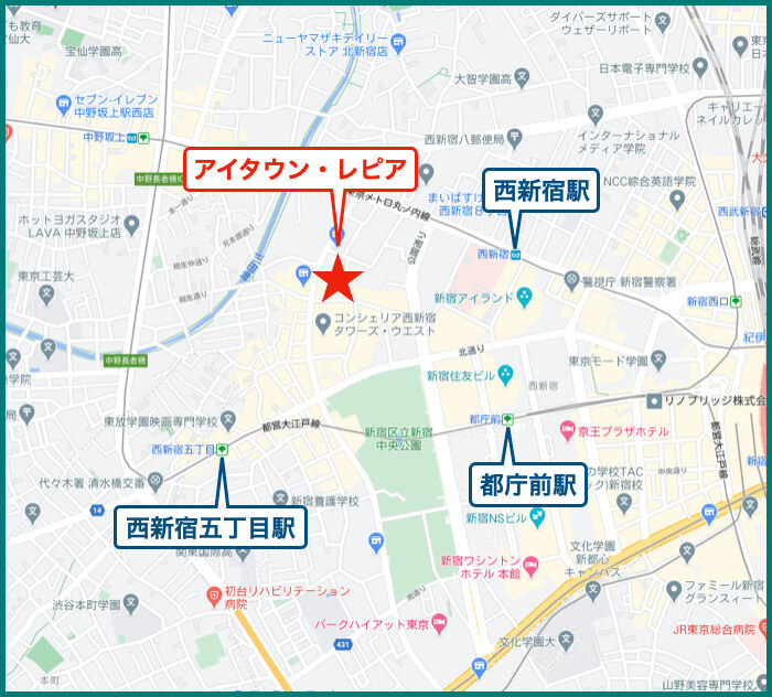 アイタウン・レピアの地図