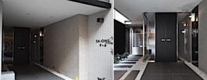 SK-ONE市ヶ谷のエントランス